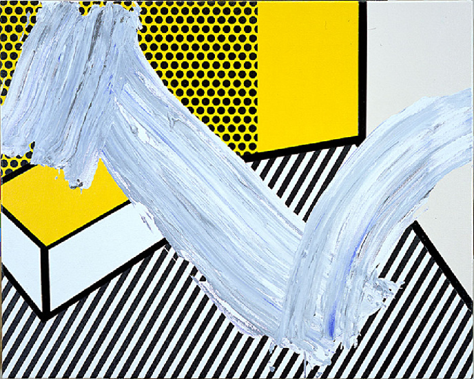 famous painting Brushstroke with Still Life of Roy Lichtenstein