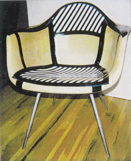 famous painting Charles Eames Chair of Roy Lichtenstein