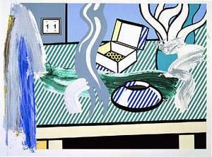 Roy Lichtenstein - Collage for Brushstroke Still Life with Box