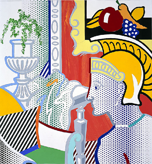 famous painting Collage for Interior with Ajax of Roy Lichtenstein