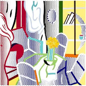 Roy Lichtenstein - Collage for Interior with Nude Leaving