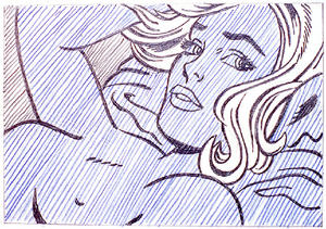 Roy Lichtenstein - Drawing for Seductive Girl