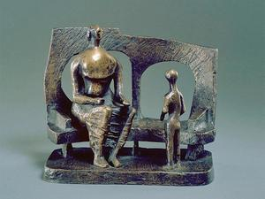 Henry Moore - Mother and Child Against Open Wall