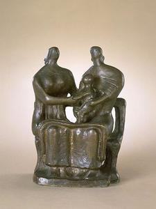Henry Moore - Two Seated Women and Child
