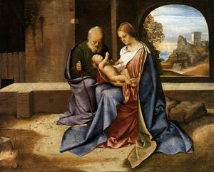 Giorgione (Giorgio Barbarelli Da Castelfranco) - The Holy Family