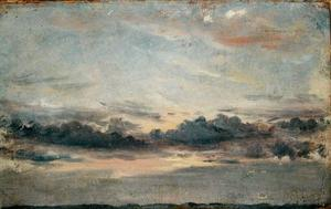 John Constable - A Cloud Study, Sunset