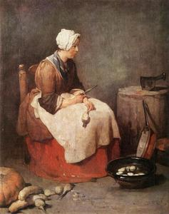 Jean-Baptiste Simeon Chardin - Woman Cleaning Turnips