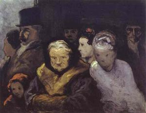 Honoré Daumier - Exit from the Theatre