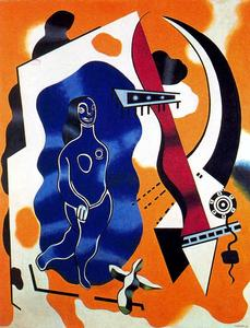 Fernand Leger - Blue Dancer