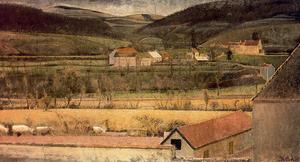 Balthus (Balthasar Klossowski) - The Valley of the Yonne