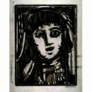 Maurice De Vlaminck - Head of a Woman