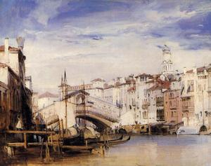 Richard Parkes Bonington - The Rialto, Venice
