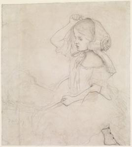 William Hogarth - Stages of Cruelty - Study for the Child (Catherine Madox Brown)