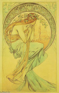 Alphonse Maria Mucha - Study for Poetry