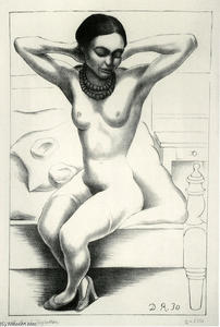Diego Rivera - Nude With Beads (Frida Kahlo) 1