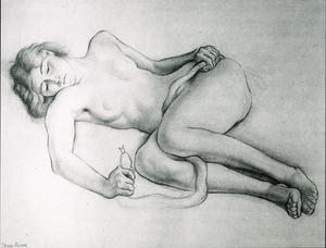 Diego Rivera - Reclining Nude with Snake
