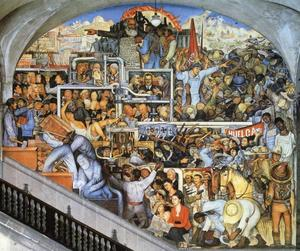 Diego Rivera - The History of Mexico - The World of Today and Tomorrow