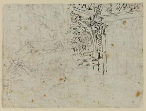 Francesco Lazzaro Guardi - Architectural details (verso)