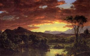 Frederic Edwin Church - A Country Home