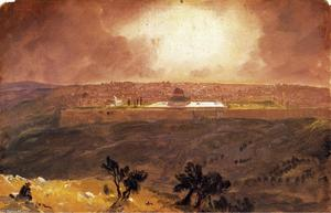 Frederic Edwin Church - Jerusalem from the Mount of Olives 1
