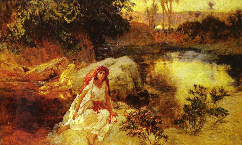 Order Art Reproductions Pop Art | At The Oasis by Frederick Arthur Bridgman | BuyPopArt.com