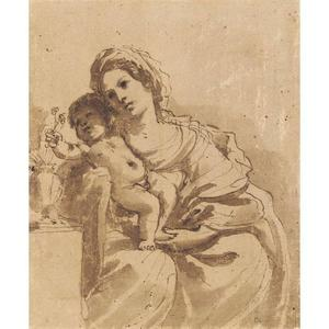 Guercino (Barbieri, Giovanni Francesco) - MADONNA AND CHILD