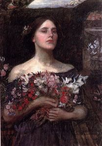 John William Waterhouse - Gather ye rosebuds study