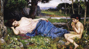 John William Waterhouse - Listening to His Sweet Pipings