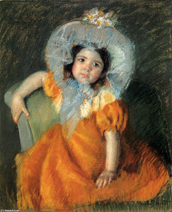 Mary Stevenson Cassatt - Child In Orange Dress