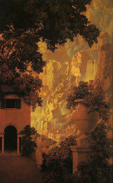famous painting Sunrise of Maxfield Parrish