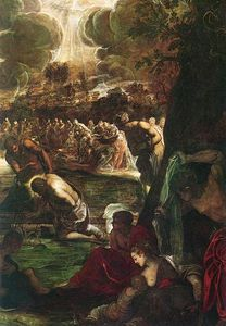 Tintoretto (Jacopo Comin) - Baptism of Christ detail1