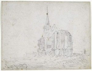 Jan Van Goyen - A ruined church