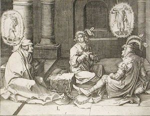 Lucas Van Leyden - Joseph Interpreting the Dreams in Prison 1