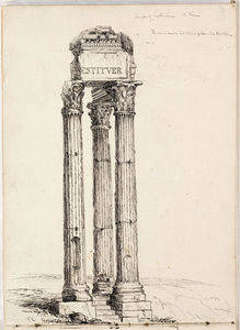Thomas Cole - Temple of Vespasian, Called the Temple of Jupiter Tonans