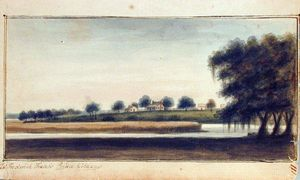 Charles Fraser - Captain Frederick Fraser's Place, Prince Williams Parish from untitled sketchbook