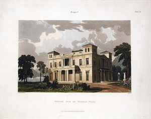 Robert Havell - Design for an Italian Villa