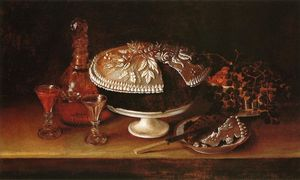 Rubens Peale - Wedding Cake, Wine, Almonds, and Raisins