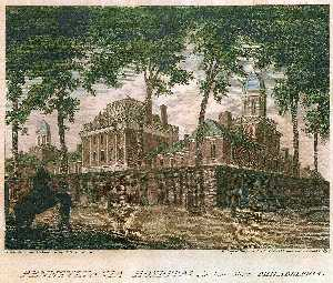 Thomas Birch - Pennsylvania Hospital, in Pine Street Philadelphia