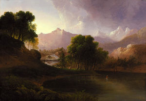 Thomas Doughty - Landscape with Stream and Mountains