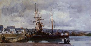 Albert-Charles Lebourg (Albert-Marie Lebourg) - The Port of Rouen, Grey Weather