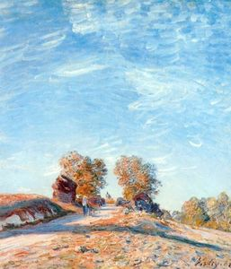 Alfred Sisley - Hill Path in Sunlight