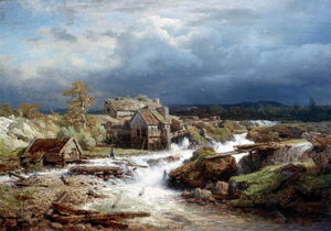 Andreas Achenbach - Old Watermill on Wildbach