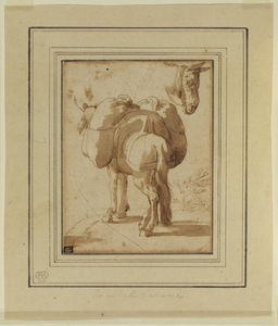 Annibale Carracci - Donkey laden with packs