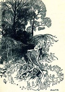 Arthur Rackham - Peter Pan in Kensington Gardens