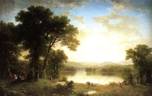 Asher Brown Durand - Picnic in the country