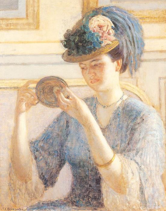 famous painting Reflections of Frederick Carl Frieseke