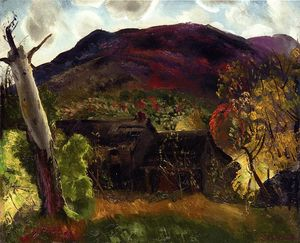 George Wesley Bellows - Blasted Tree and Deserted House