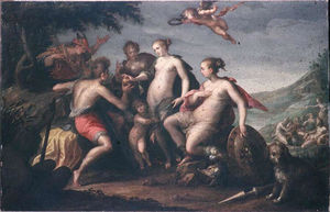 Hans Von Aachen - The judgment of Paris