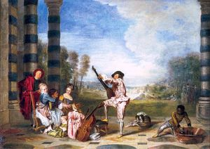 Jean Antoine Watteau - The Pleasures of LIfe