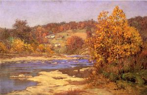 John Ottis Adams - Blue and Gold